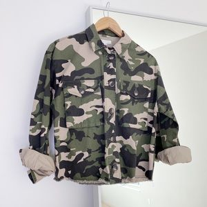 Socialite Camo Cropped Jacket